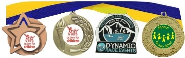 Personalised Medals with Logo and Free Ribbons
