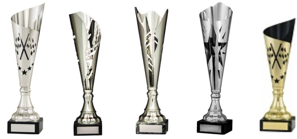 Fluted Stylish Contemporary Cup Trophies