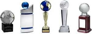 World Globe Trophies